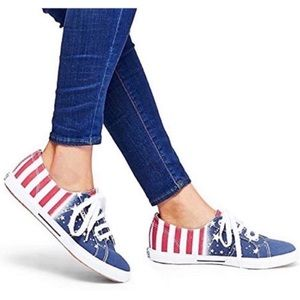 Superga Sneakers American Flag USA Red White Blue